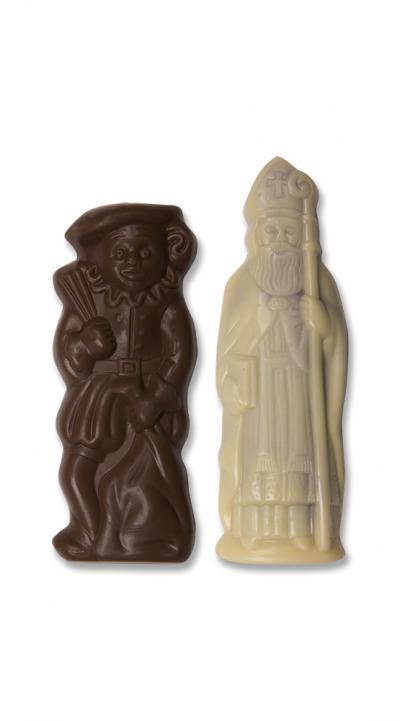 Sinterklaas en Piet - met pralinévulling