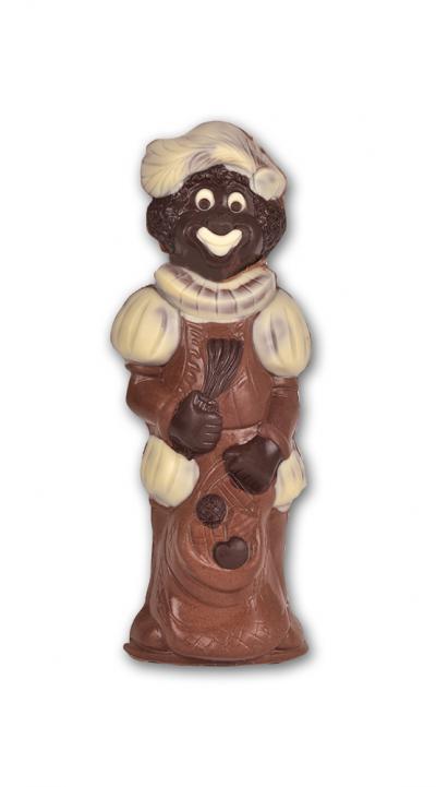 PIET MET ROEDE EN ZAK HOLLE CHOCOLADE INGEKLEURD