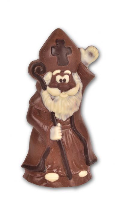 Sinterklaas wuift - Holle chocolade ingekleurd